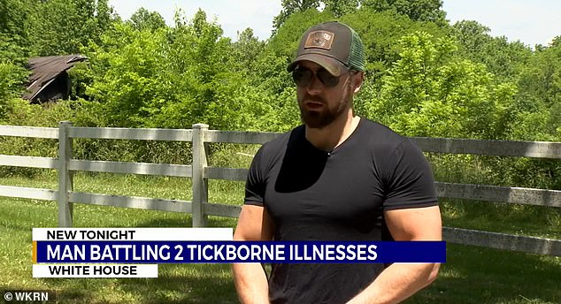 Grubbs (pictured) was diagnosed with two tick-borne illnesses: Lyme disease and Rocky Mountain Spotted Fever