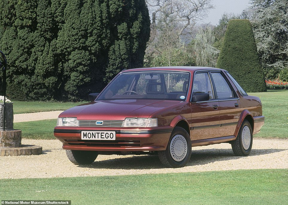 Austins on the brink of extinction: The Montego (pictured) is one of the three British Leyland motors that has dwindled to just handfuls of examples in 2021