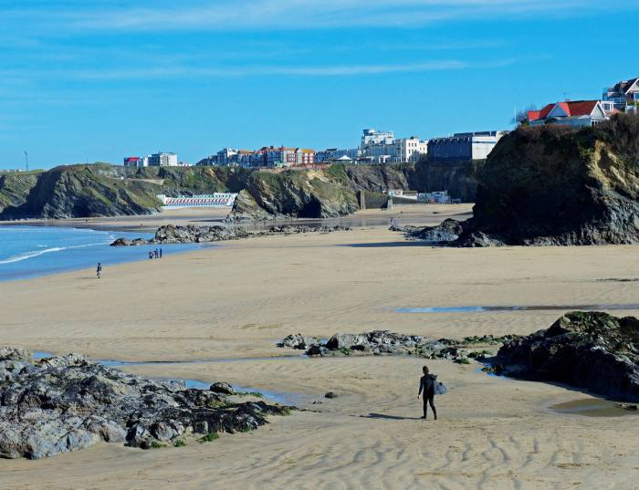 The beach at Newquay, one of the areas that is making Cornwall the fastest-moving market in the UK