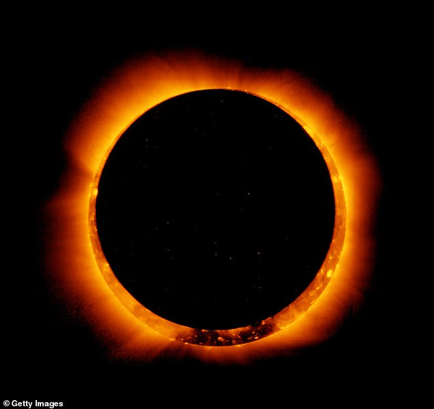 A ring of fire eclipse happens when the Moon is too far away to completely hide all the light from the sun, so a slither is still visible around the edges
