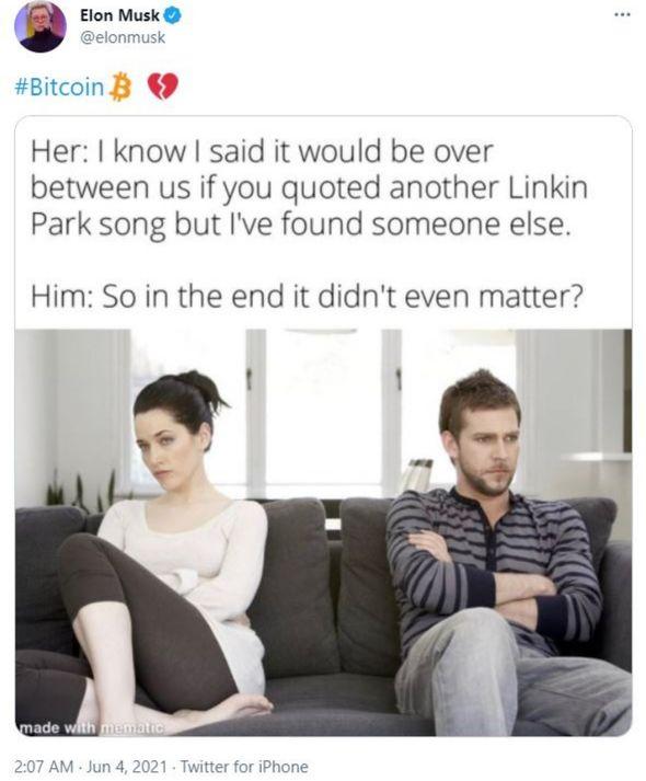 bitcoin elon musk tweet