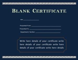 Attendance Certificate Template