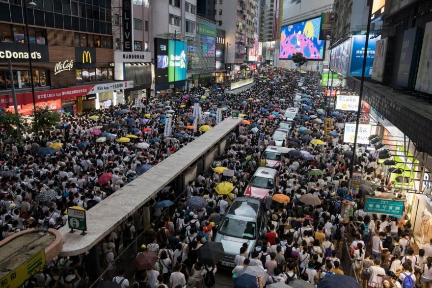 Hundreds of thousands march in Hong Kong to protest China extradition bill. Government & Economy - THE BUSINESS TIMES