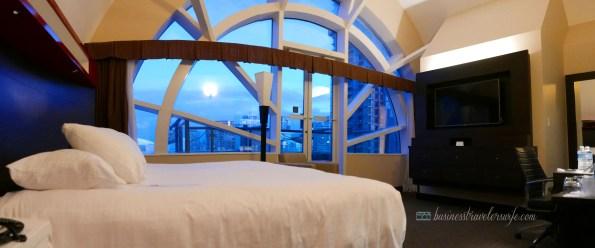 Hyatt Regency Toronto Hotel balcony room with CN Tower view