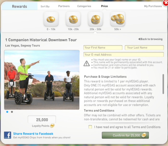 How to Redeem FREE Vegas Rewards with myVEGAS App Loyalty Points Rewards 2