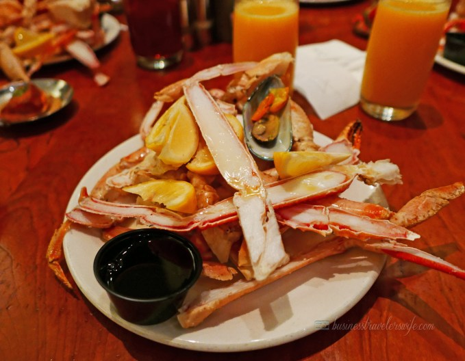 Bacchanal Buffet is One of the Best Buffets in Las Vegas Caesars Palace Seafood Station Seafood Plate Drawn Butter Lemon Juice