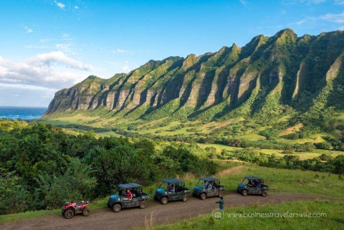 ATV Tour in Kualoa Ranch Oahu Mountain Ridge View 4WD Multi-Passenger ATV