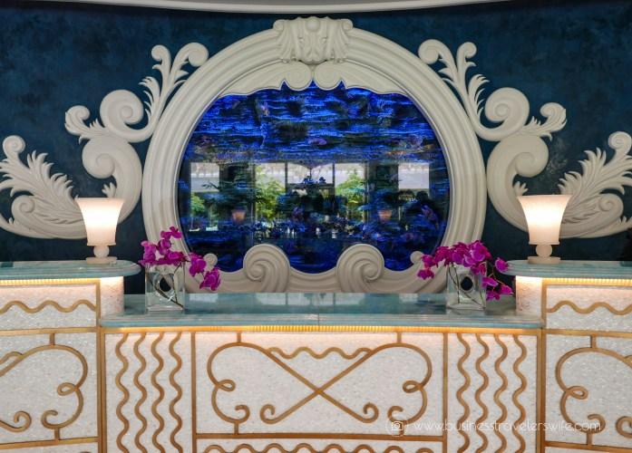 Grand Hyatt Baha Mar - A Grand Vacation in Nassau Bahamas aquarium reception