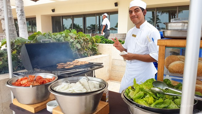 Experience the All-Inclusive Resort at Hyatt Ziva Cancun burgers by the pool