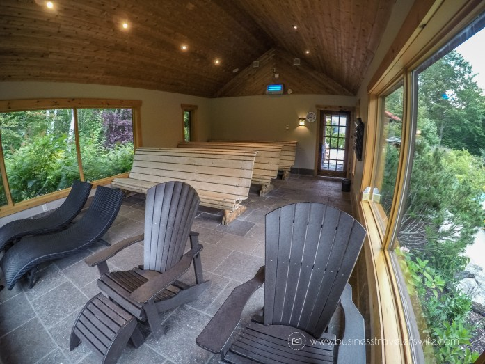 Relaxing Getaway at Scandinave Spa Blue Mountain scandinavian bath relaxation solariums