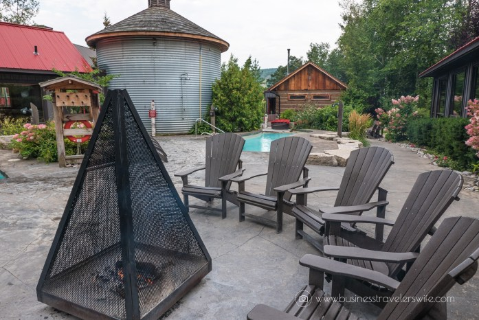 Relaxing Getaway at Scandinave Spa Blue Mountain muskoka chairs fireplace