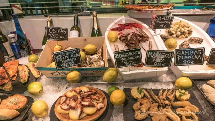 Experiencing the Best of Madrid in a Day - Explore, Eat, Stay Food Markets Mercado de San Anton seafood tapas