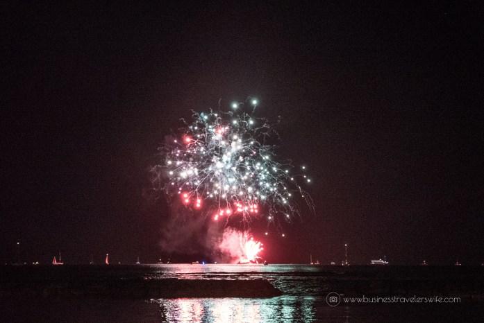 Countdown to New Year at the Waikiki Beach Fireworks Display