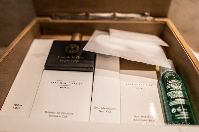 Where to Stay in Paris- 5-Star Hotel and Affordable Accommodations Park Hyatt Paris-Vendome Toiletries