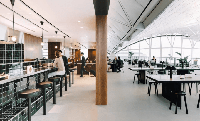 Nieuwe lounge Cathay Pacific