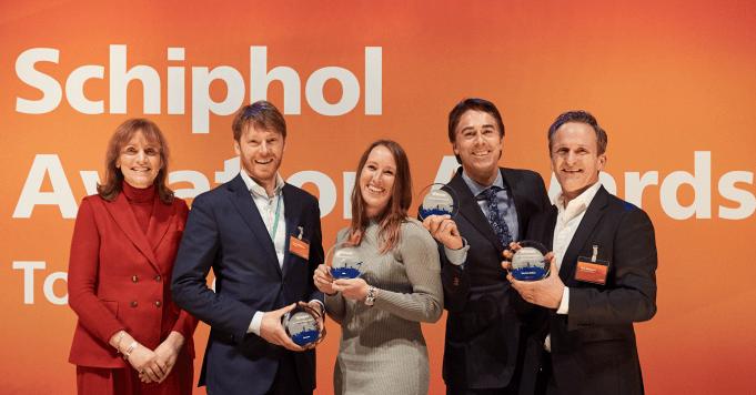 Uitreiking van de Schiphol Aviation Awards.