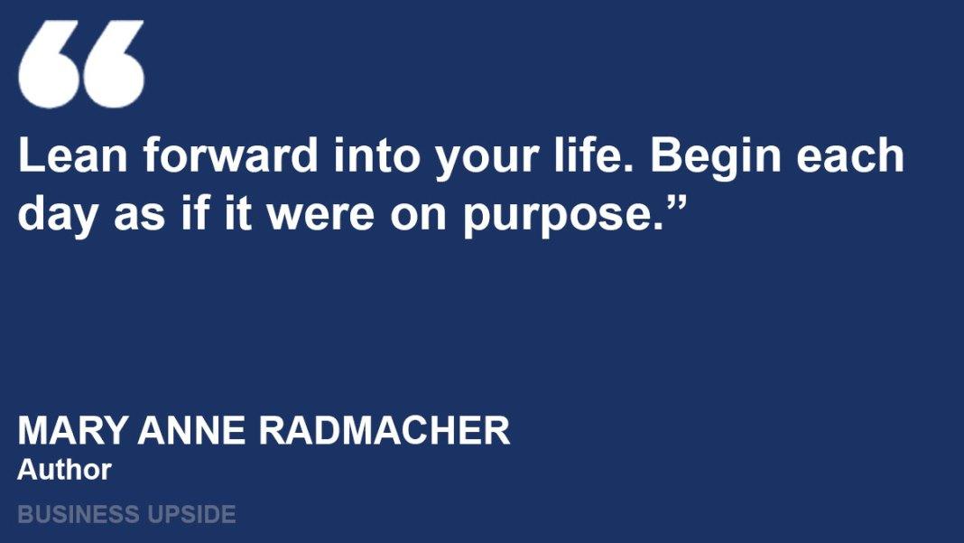 mary anne radmacher quotes