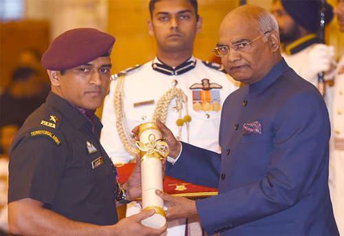 Dhoni Padma Bhusan Award