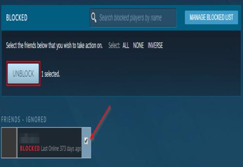Steam Unblock User