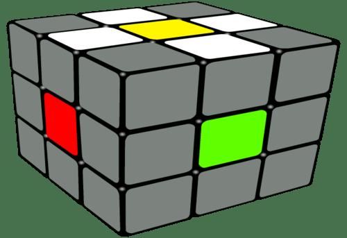 White Cross Rubiks Cube