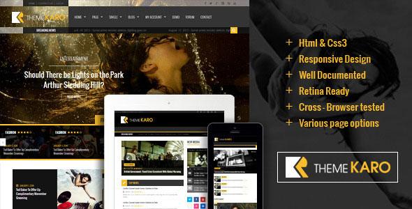 Karo – Themeforest Magazine WordPress theme
