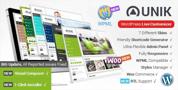 Unik Ultra-Customizable Themeforest WordPress Theme v1.4