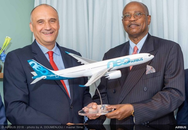 Eric Schulz, Chief Commercial Officer Airbus / Ephraim Bagenda, Chief Executive Officer of Uganda Airlines