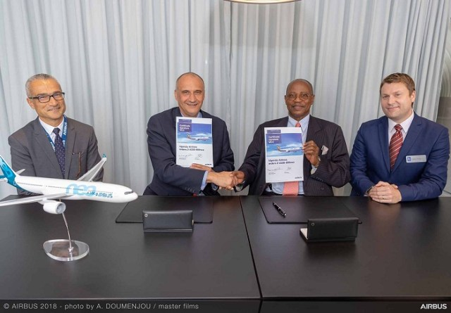 Hadi Akoum, Vice-President Sales Africa and Indian sub-Ocean Customer Affairs / Eric Schulz, Chief Commercial Officer Airbus / Ephraim Bagenda, Chief Executive Officer of Uganda Airlines / John Kelly, Senior Vice-President Customers, Rolls-Royce Civil Aerospace