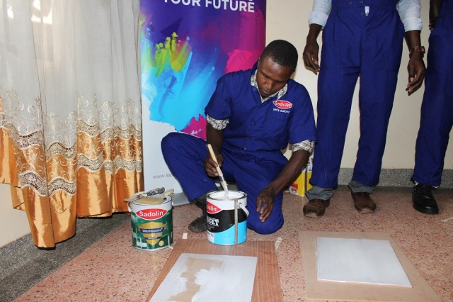 Painters are also educated and advised to look out for dangerous paints with lead content.