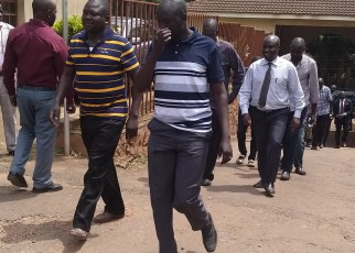 The suspects at the Anti-Corruption Court at Kololo