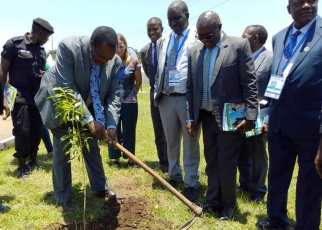 The major event of the day was planting of trees in Entebbe town as ways of restoring the degraded tree cover in the Municipality.