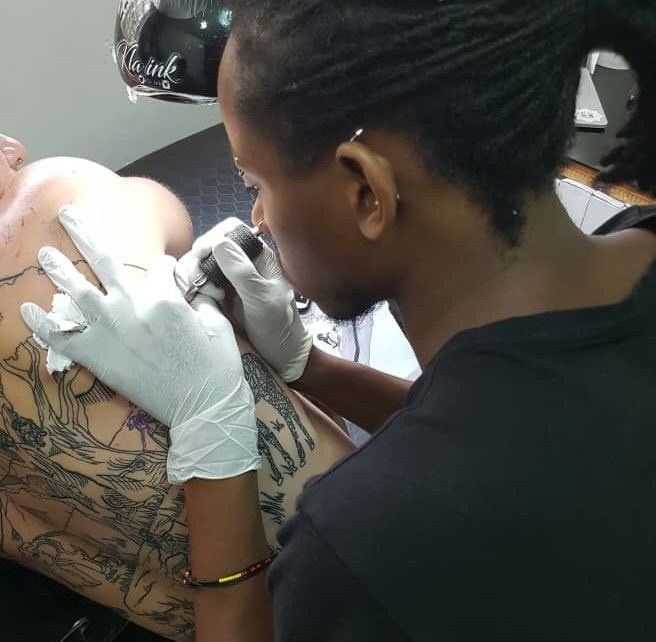 Born to a Ugandan father and Kenyan mother, 24-year-old Muhammad Ali has mastered the art of tattooing.