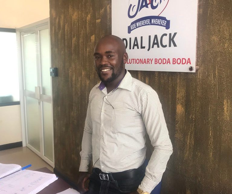 Nathan Charles Kyalisiima was voted employee of the year 2018 at Dial Jack