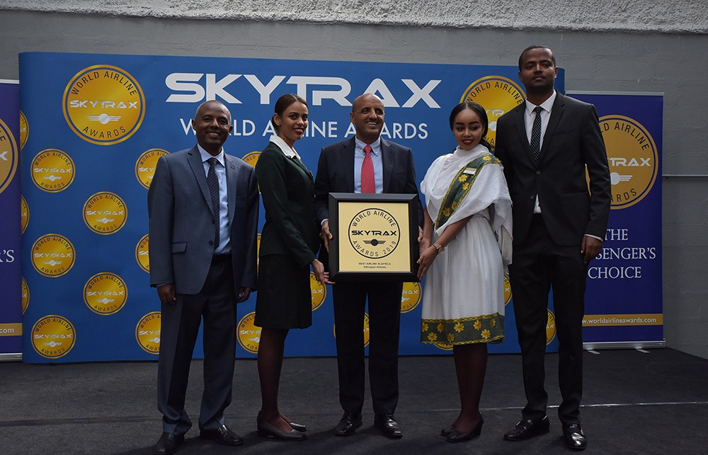 Ethiopian Airlines Group, has been voted the 'Best Airline in Africa' for the third consecutive year at the Skytrax 2019 World Airlines Awards