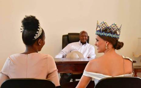 Mexican Beauty Queen, Vanessa Ponce de Leon, the 68th Miss World has met with Uganda's President Yoweri Kaguta Museveni at his country home in Rwakitura Western Uganda.