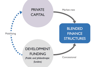 Blended finance is predominantly in the agriculture and energy sector.