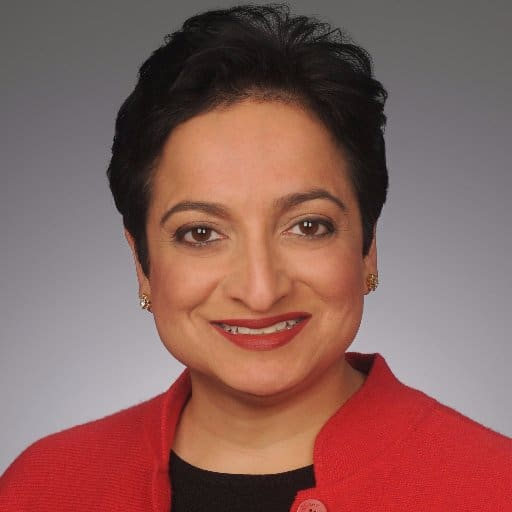 Shamina Singh is President of the Center for Inclusive Growth, Mastercard's philanthropic hub, and Executive Vice President of Sustainability at Mastercard