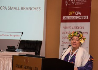 The newly-elected Chairperson of the Commonwealth Parliamentary Association Small Branches, Niki Rattle, Speaker of the Parliament of the Cook Islands pledged that the Commonwealth Parliamentary Association (CPA) would have a strengthened and renewed focus on assisting Small Branches under her leadership.
