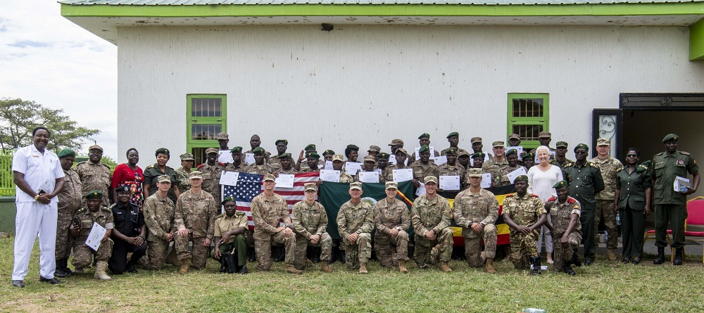 About 25 Uganda Wildlife Authority Park Rangers have undergone a training programme on how to counter illicit trafficking conducted by the United States government.