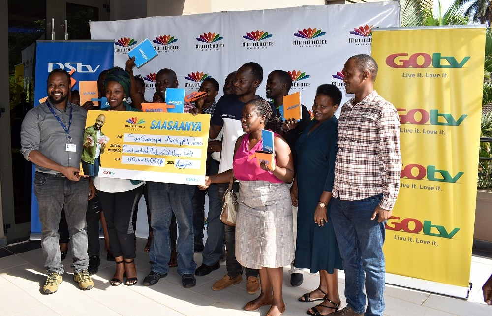 "MultiChoice Uganda, has rewarded 200 customers who took part in the Back to School promo dubbed ""Sasanya Amajja"" that was launched on 19th December 2019."