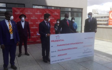 Prudential,  which provides long-term protection and investment opportunities to Ugandans through innovative and affordable life assurance products, has this morning donated Ush300million towards the COVID -19 food relief.