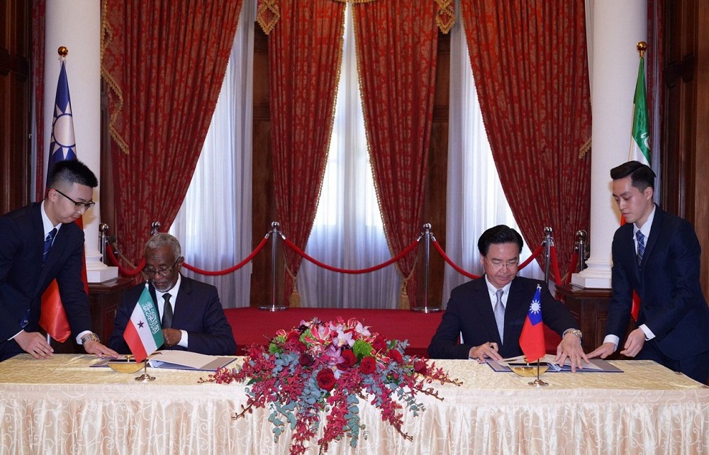The United States has hailed the newly found diplomatic relationship between Somaliland and Taiwan describing it as a tremendous step.