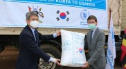 Korea gives locusts' affected Ugandans and refugees food relief