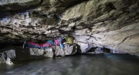 Passaggio del sifone, Ramo Principale (foto Sandro Sedran S-Team)