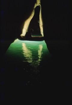 Canotto sul Laghetto di Caronte (foto archivio GSM)