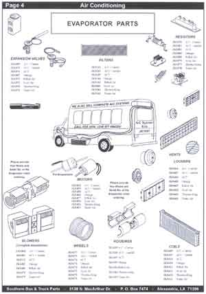 School Bus Air Cinditioning Evaporator Parts