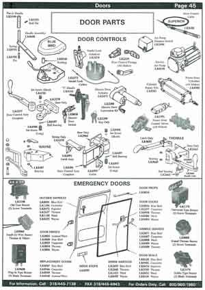 School Bus Door Parts