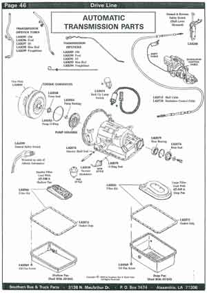 School Bus Transmission Parts