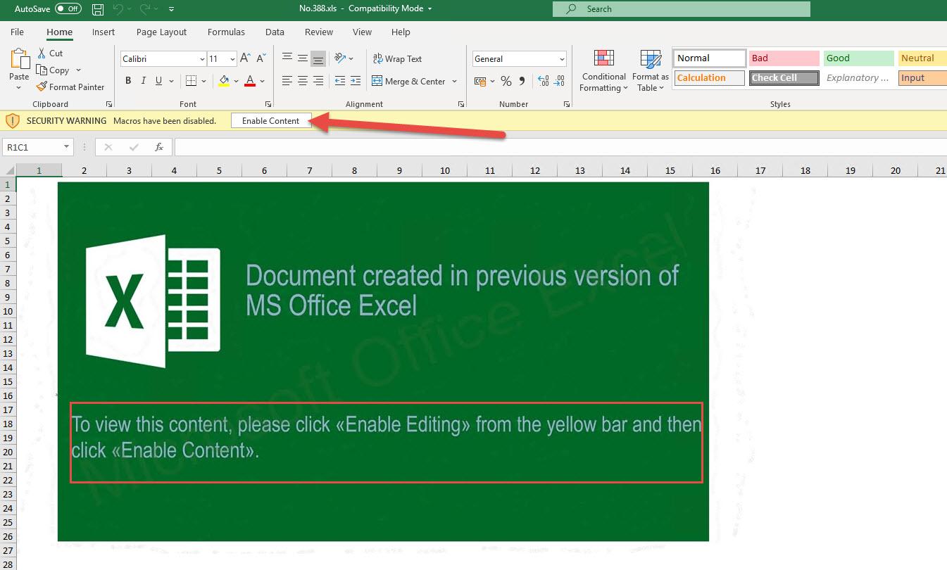 Zloader Malicious Excel Fileysis