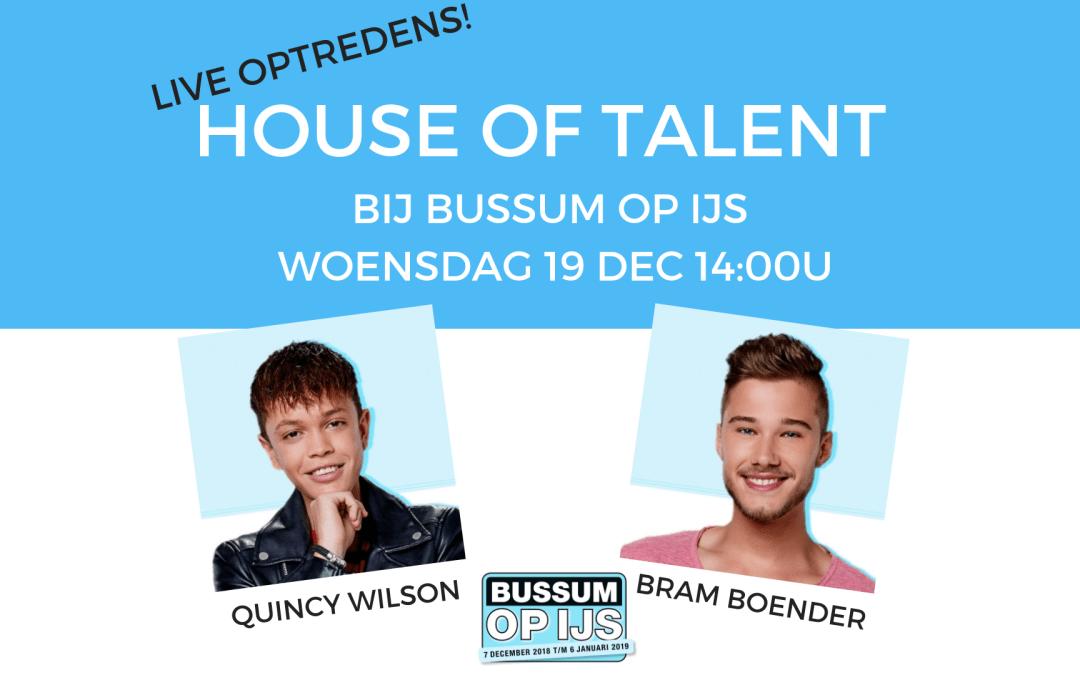 House of Talent bij Bussum op IJs